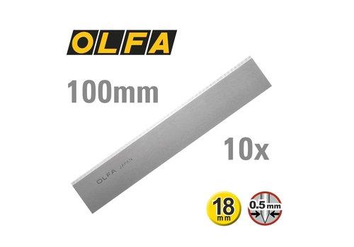 OLFA® 100mm Dual-Edge Klingen für Schaber -10er Pack