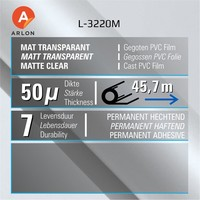 thumb-Arlon L-3220M Matt 137 cm-2