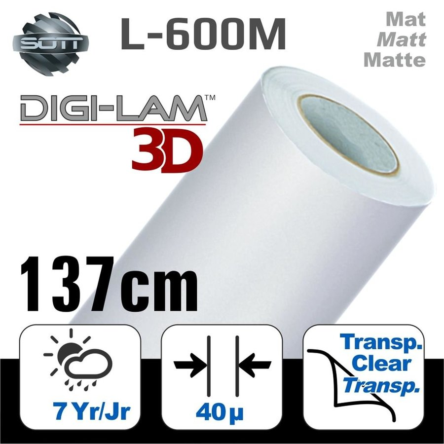 L-600M DIGI-LAM™3D Matt Laminat Gegossen 137 cm-1