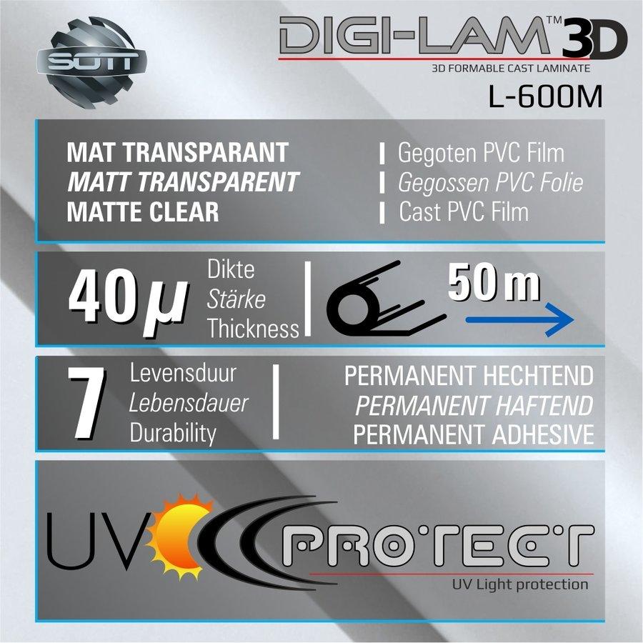 L-600M DIGI-LAM™3D Matt Laminat Gegossen 152 cm-2