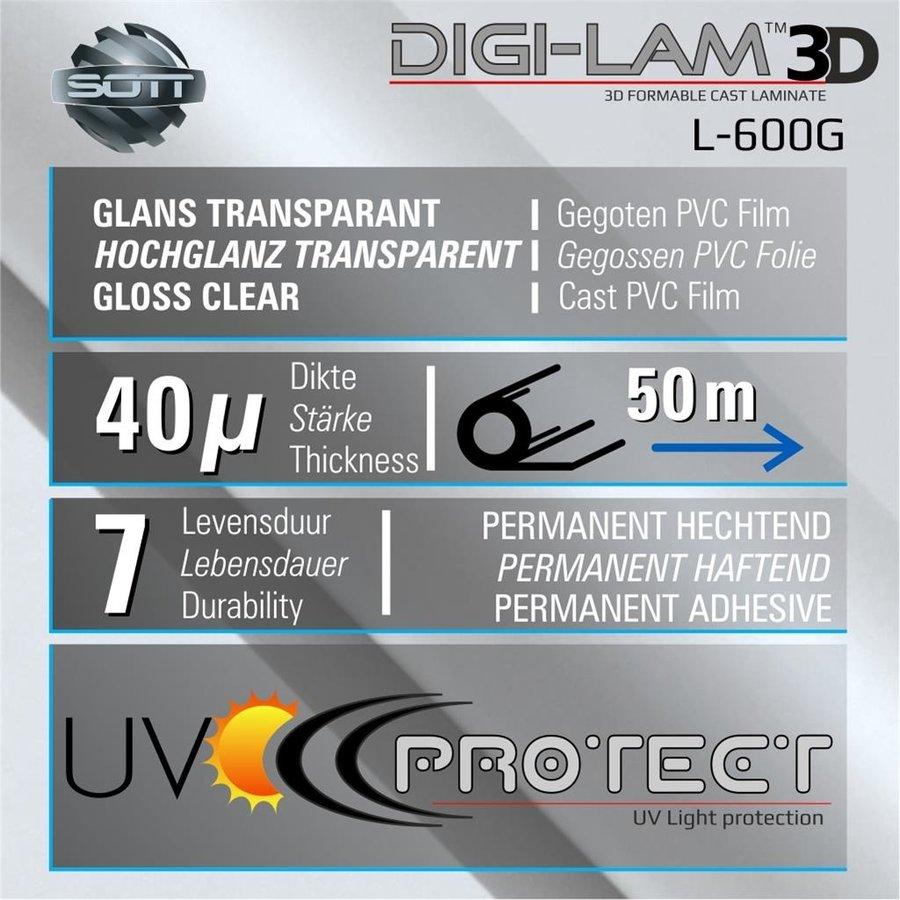 L-600G DIGI-LAM™3D Glanz Laminat Gegossen 152 cm-2