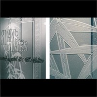 thumb-Glasdekor Folie X-Ct Etched Glass PVC -122cm-5