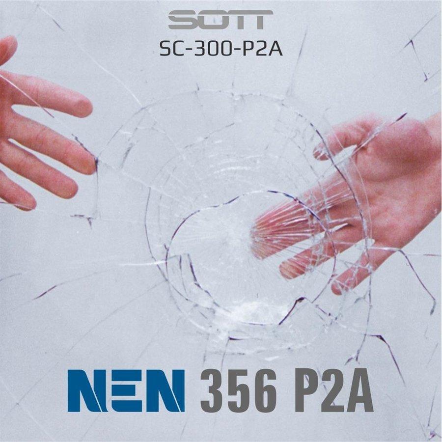 SC-300-P2A-182  Security300 P2A Glasklar EN 356 P2A -1-7