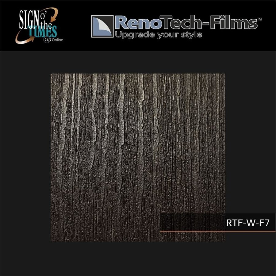 RTF-W-F7-122  Holzoptik Silber Schwarzes Holz strukturiert-3