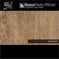 thumb-RTF-W-F5-122  Holzoptik Alte Eiche Dunkel strukturiert-2