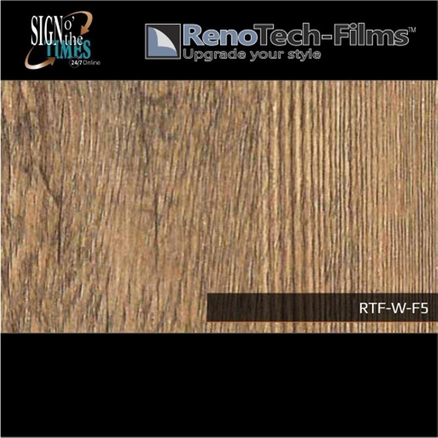 RTF-W-F5-122  Holzoptik Alte Eiche Dunkel strukturiert-2
