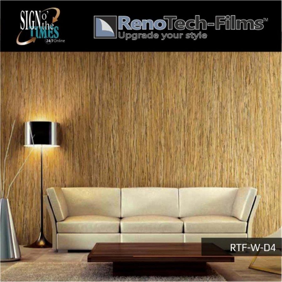 RTF-W-D4-122  Holzoptik Dunkles Zebrano strukturiert-3