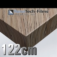 thumb-RTF-W-D4-122  Holzoptik Dunkles Zebrano strukturiert-1