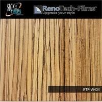 thumb-RTF-W-D4-122  Holzoptik Dunkles Zebrano strukturiert-2