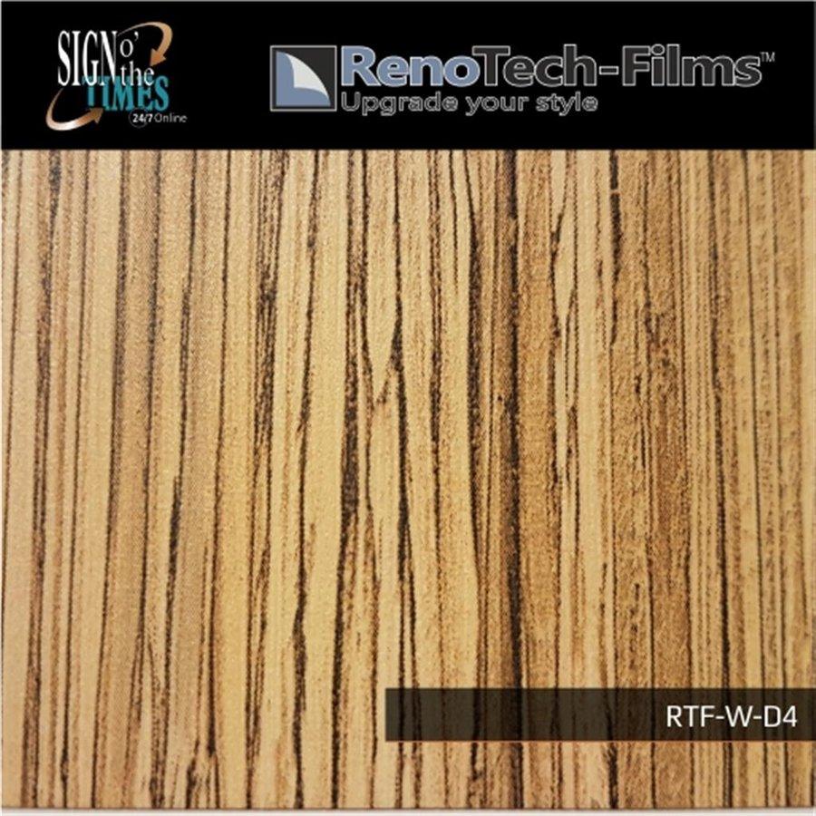 RTF-W-D4-122  Holzoptik Dunkles Zebrano strukturiert-2