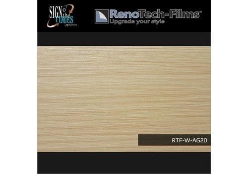Renotech RTF-W-AG20-122 Holzoptik helle cremefarbende Buche strukturiert