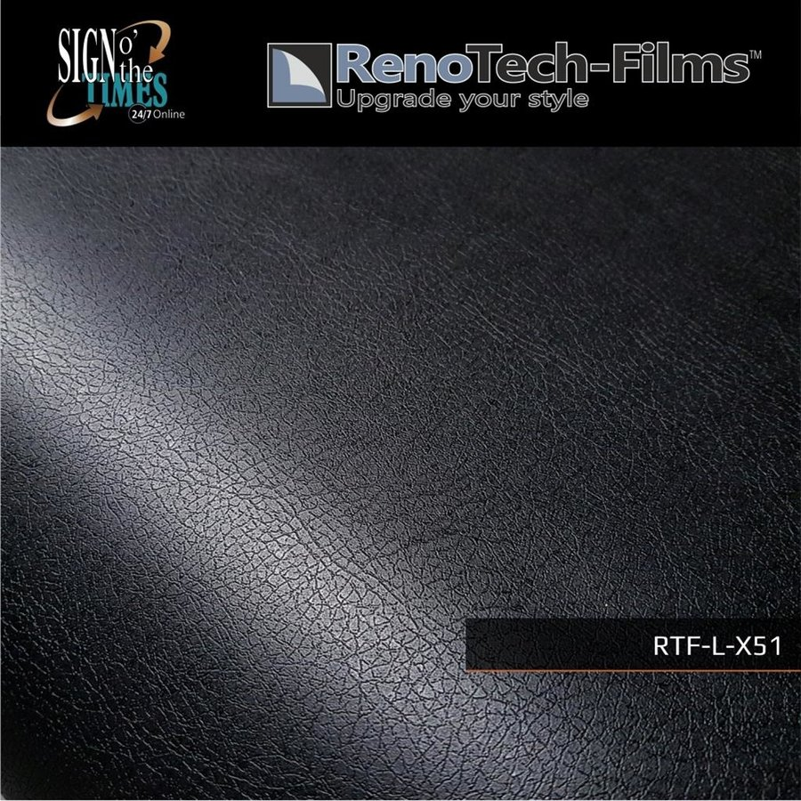 schwarzes Leder RTF-L-X51-122-3