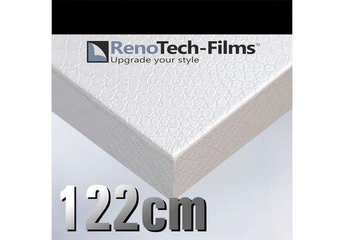 Renotech RTF-L-X11-122  Weißes Krokodilhautleder
