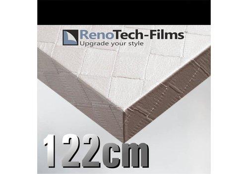 Renotech RTF-L-X10-122 weißes kariertes Leder