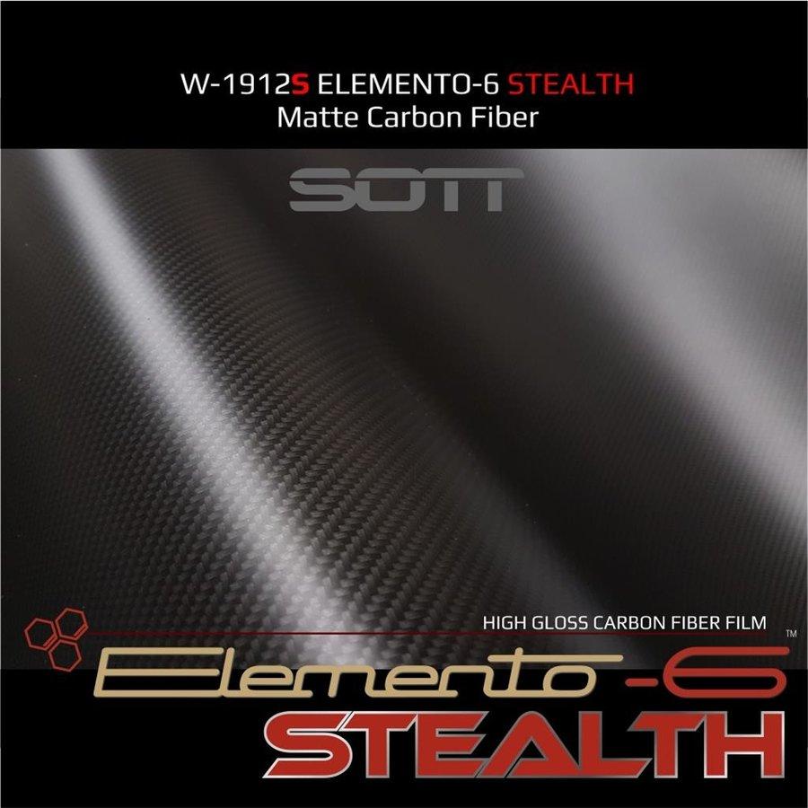 W-1917 ELEMENTO-6 -Stealth Carbonfaser matt-satiniert 152cm-2