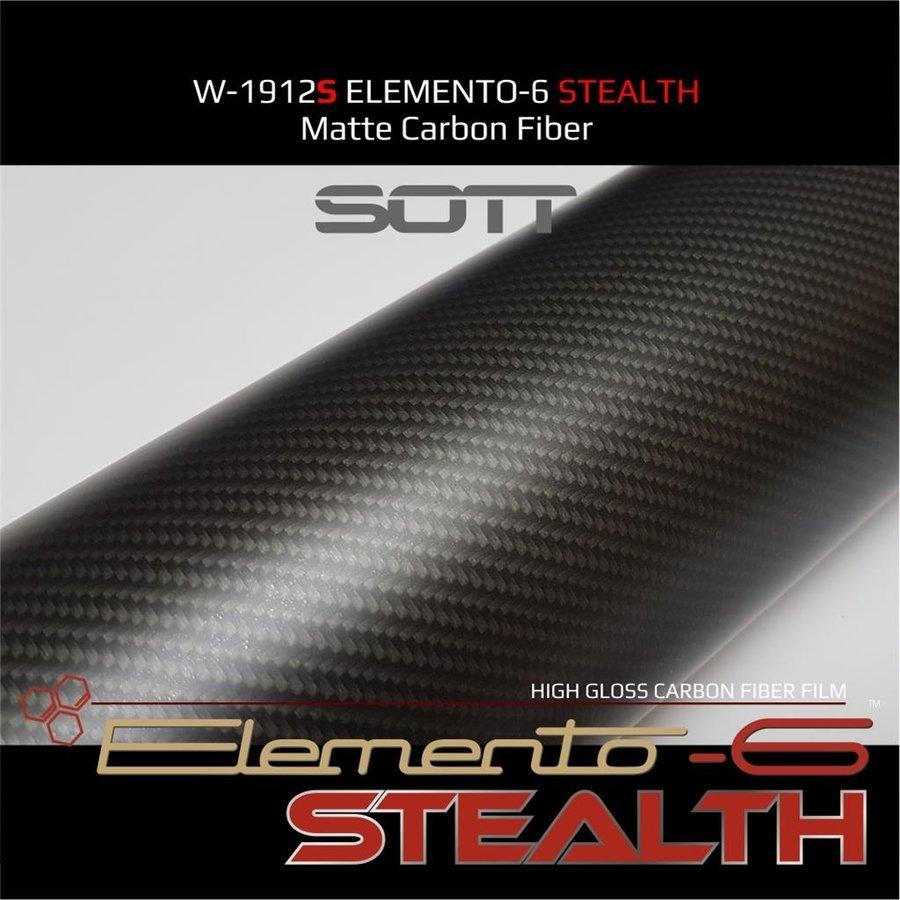 W-1917 ELEMENTO-6 -Stealth Carbonfaser matt-satiniert 152cm-6