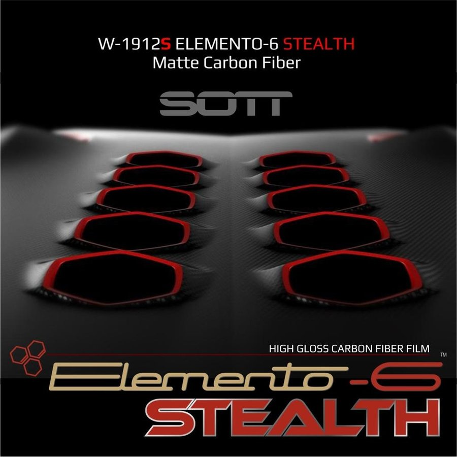 W-1917 ELEMENTO-6 -Stealth Carbonfaser matt-satiniert 152cm-7
