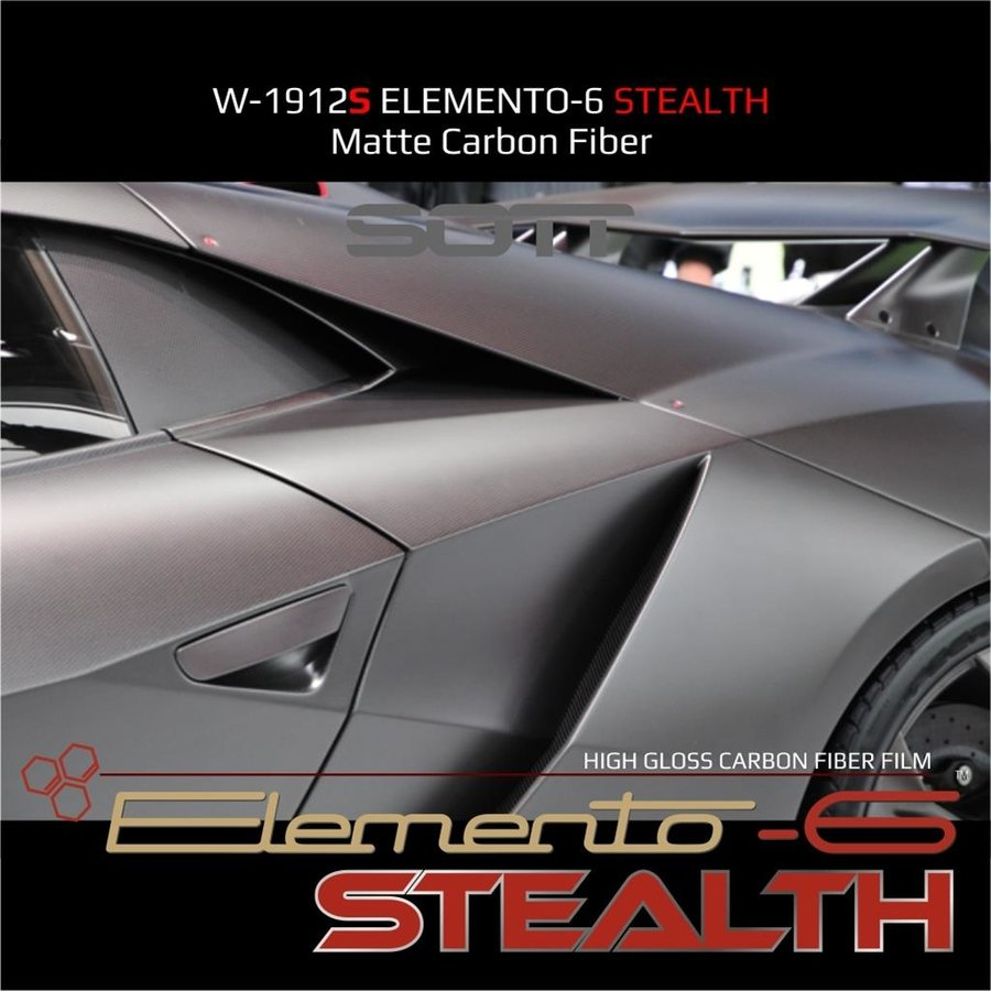 W-1917 ELEMENTO-6 -Stealth Carbonfaser matt-satiniert 152cm-9