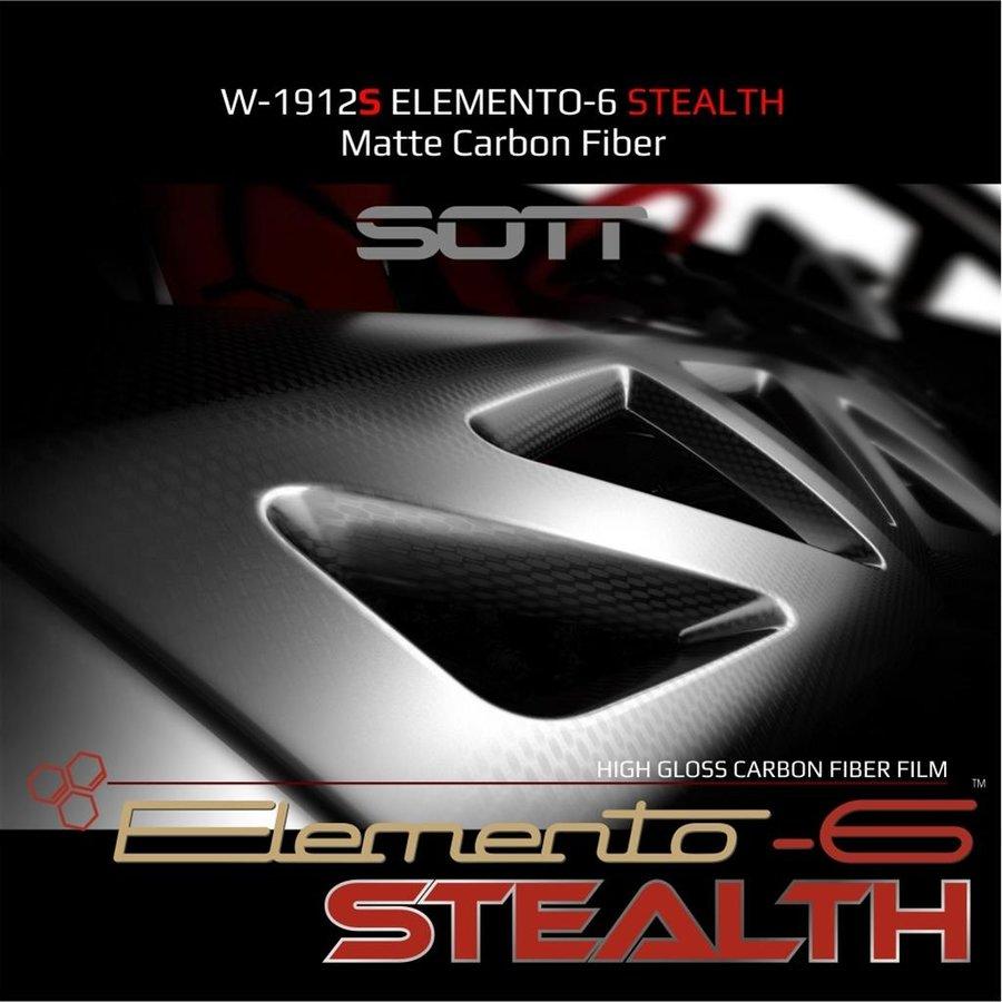 W-1917 ELEMENTO-6 -Stealth Carbonfaser matt-satiniert 152cm-10