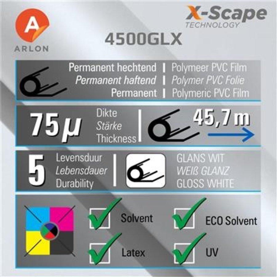 Arlon DPF 4500GLX X-Scape™ Glanz Weiß Film 137cm-2