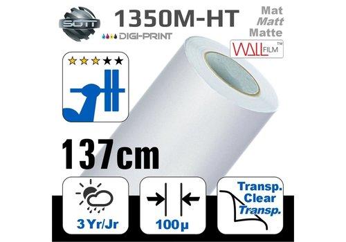 SOTT® DP-1350M-HT-140 DigiPrint H.Tack Fassaden-Folie Matt Weiß -monom.