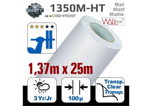 SOTT® DP-1350M-HT-140 25m  DigiPrint H.Tack Fassaden-Folie Matt Weiß -monom.