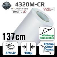 thumb-DP-4320M-CR-137 DigiPrint TexTR150™ Canvas Wall-Folie Matt Weiß-1