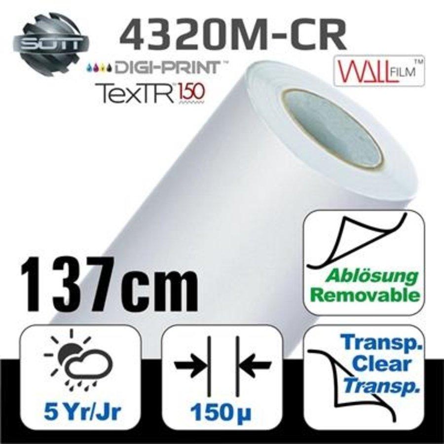 DP-4320M-CR-137 DigiPrint TexTR150™ Canvas Wall-Folie Matt Weiß-1