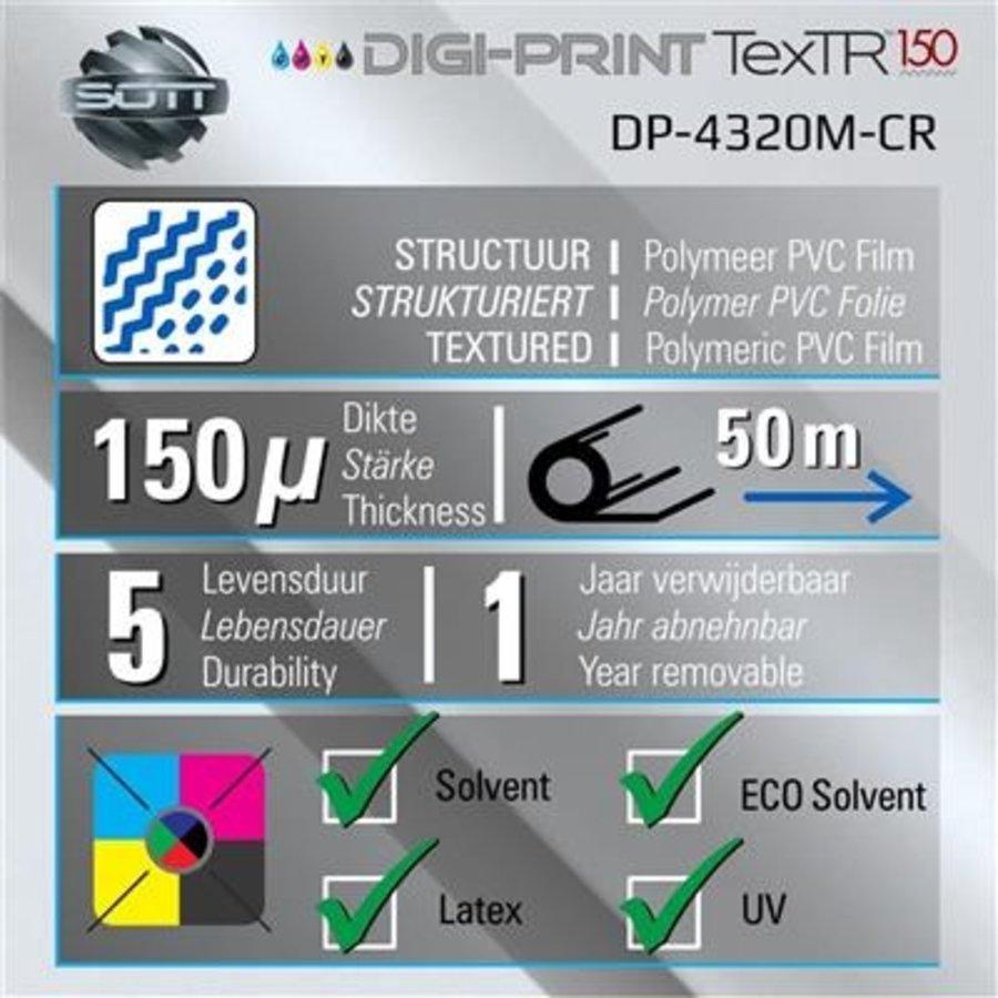 DP-4320M-CR-137 DigiPrint TexTR150™ Canvas Wall-Folie Matt Weiß-2
