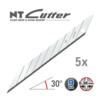 NT-Cutter® BD100 Abbrechklingen 30° Superscharf 5 Klingen