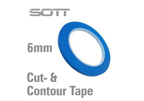 SOTT® 350-204 Schneide- und Konturklebeband - 6mm