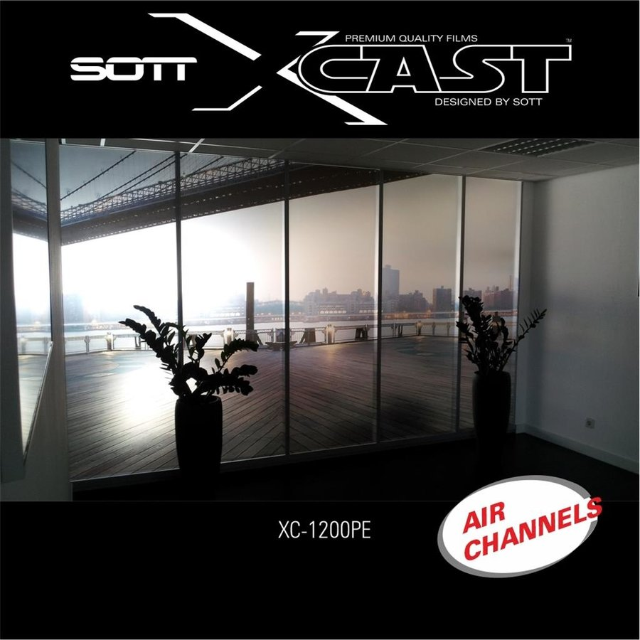 Glasdekor Folie X-Cast Etched Glass AirScape 122cm XC-1200X-122-3