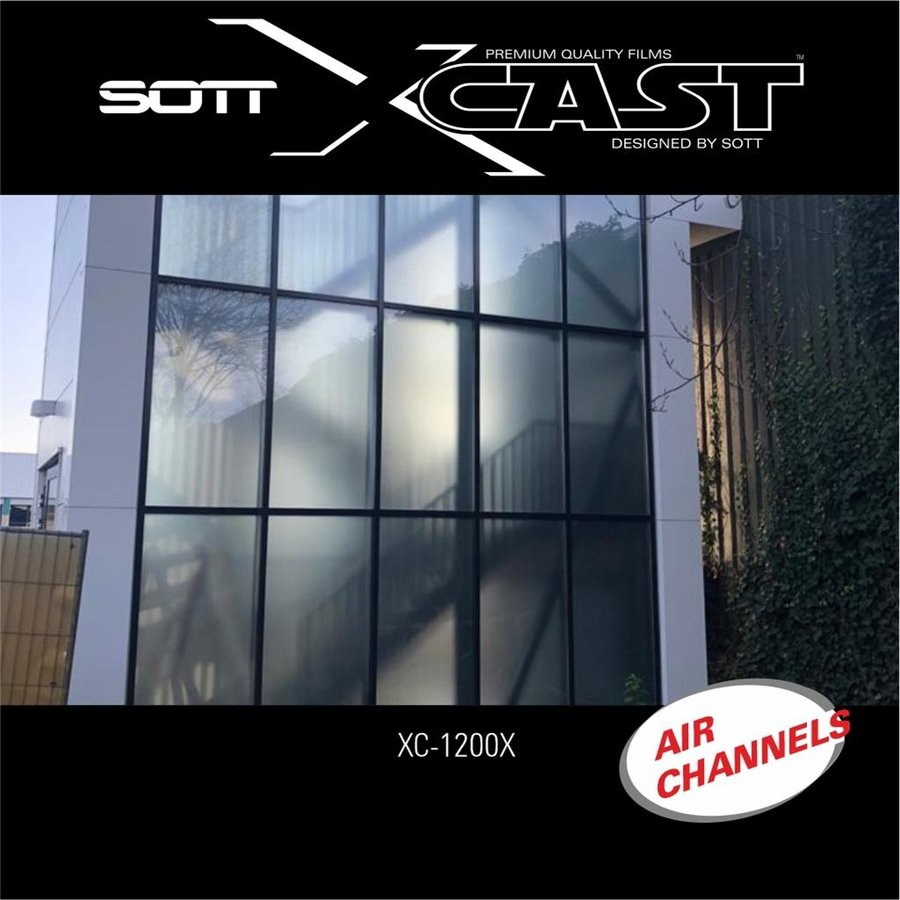 Glasdekor Folie X-Cast Etched Glass AirScape 122cm XC-1200X-122-8