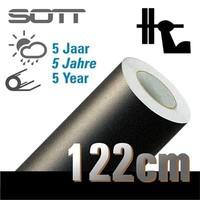 thumb-MC1000-122 Sand Embossed Black Folie -122cm-1