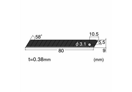 NT-Cutter® BA13P 58° Klingen, schwarz 120-BA13P