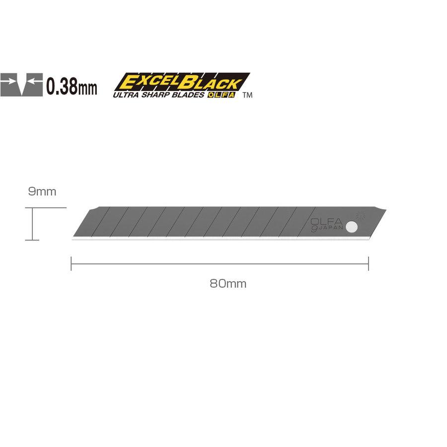 120-ASBB-10 9mm Black Snap-Off Blades 10 Stück-1