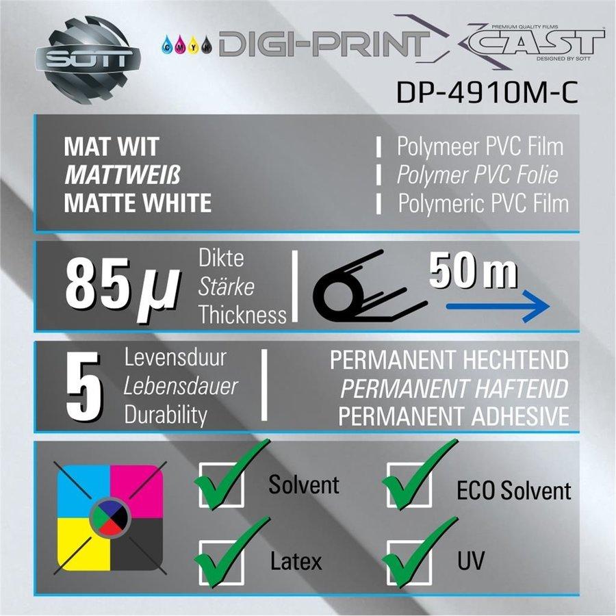DigiPrint X-Cast Matt Weiß -137cm x 25 m-2
