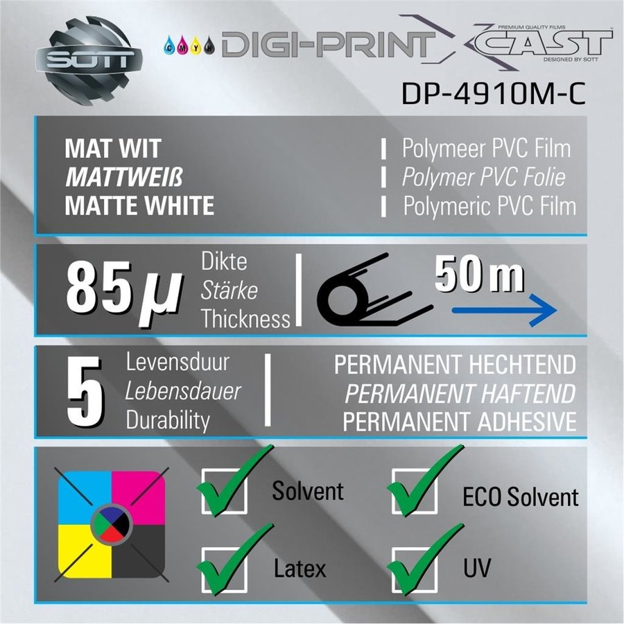DigiPrint X-Cast Matt Weiß -152 cm x 25 m-2