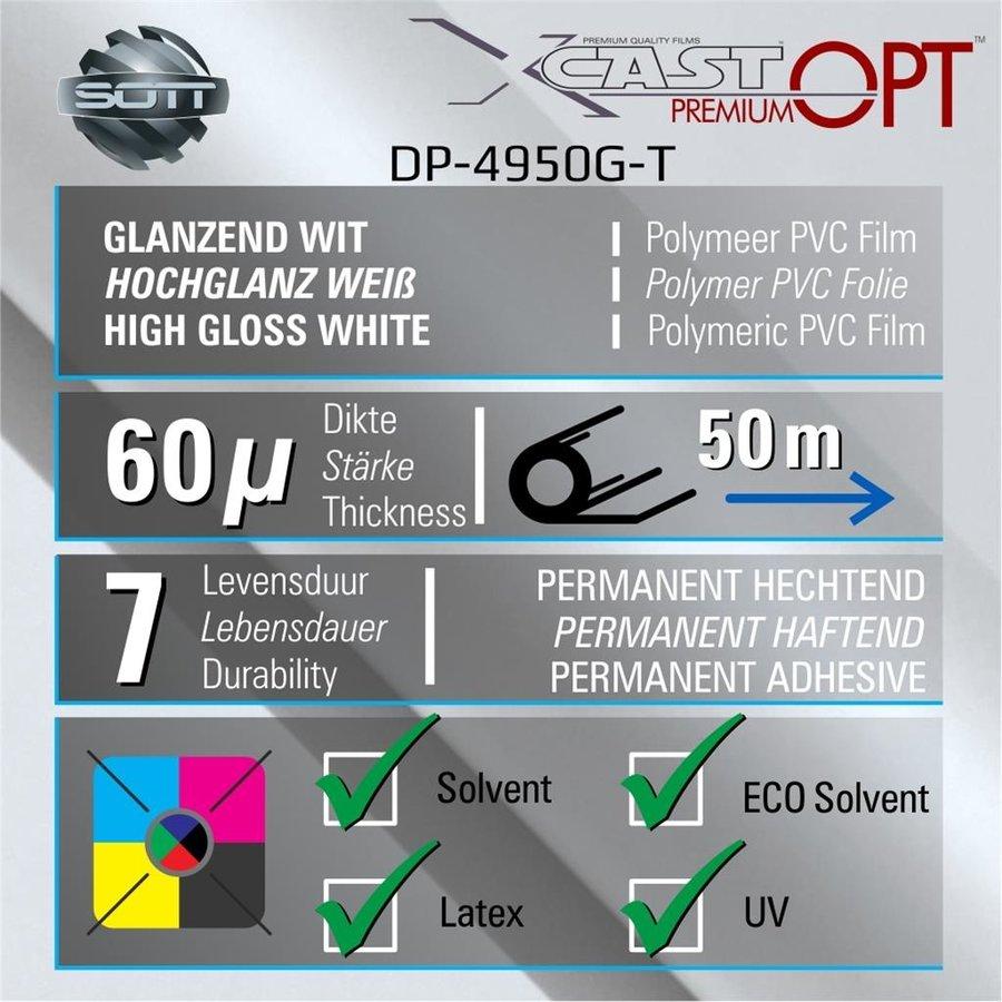 DigiPrint X-Cast™ PremiumOPT™ Glanz Weiß - 152 cm-2