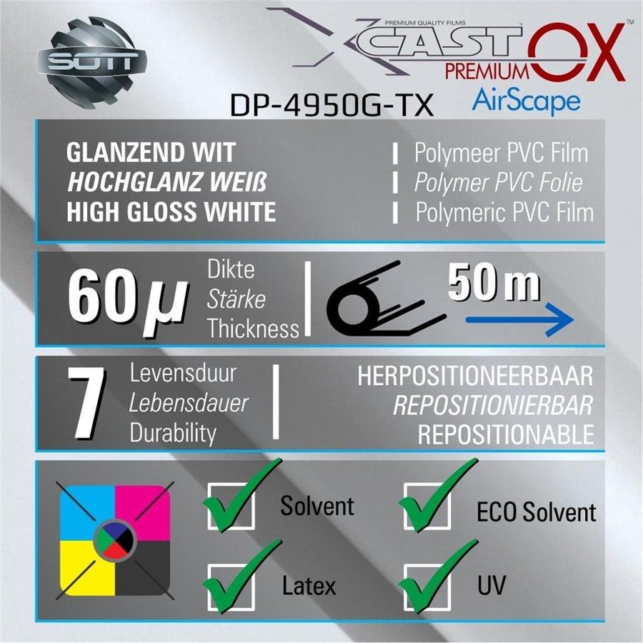 DigiPrint X-Cast™ PremiumOX™ Glanz Weiß -152 cm - 25m-2