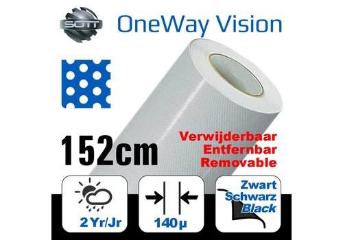SOTT® DP-OWV6040-152-One-Way Vision Film Perforated 60/40