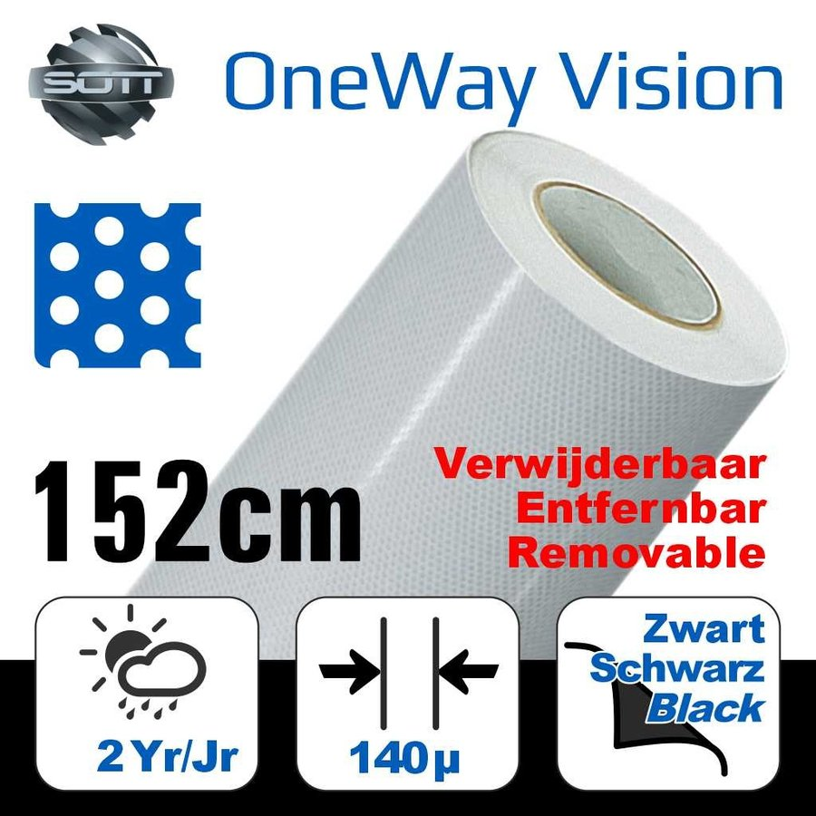 DP-One-Way Vision Film Perforated 60/40 -152-1