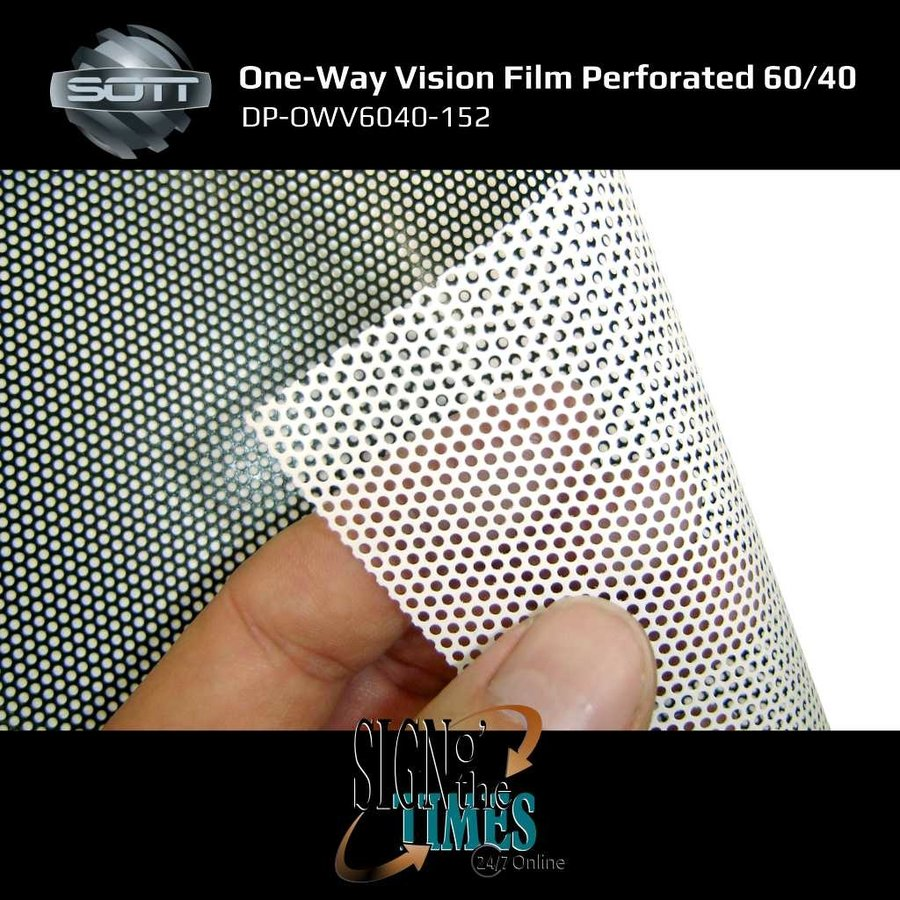 DP-One-Way Vision Film Perforated 60/40 -152-5