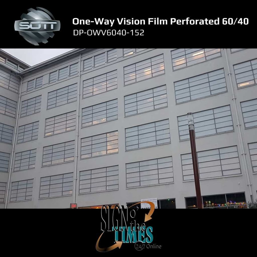 DP-One-Way Vision Film Perforated 60/40 -152-6