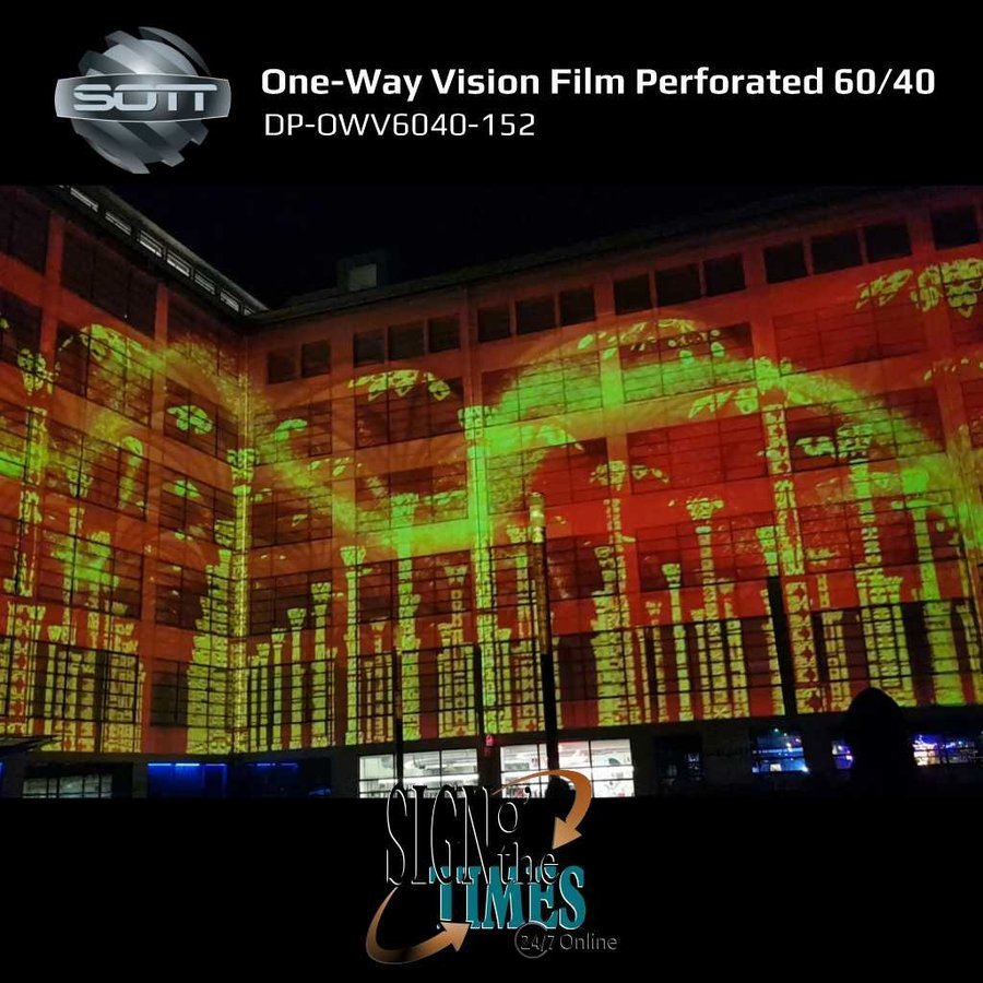 DP-One-Way Vision Film Perforated 60/40 -152-9