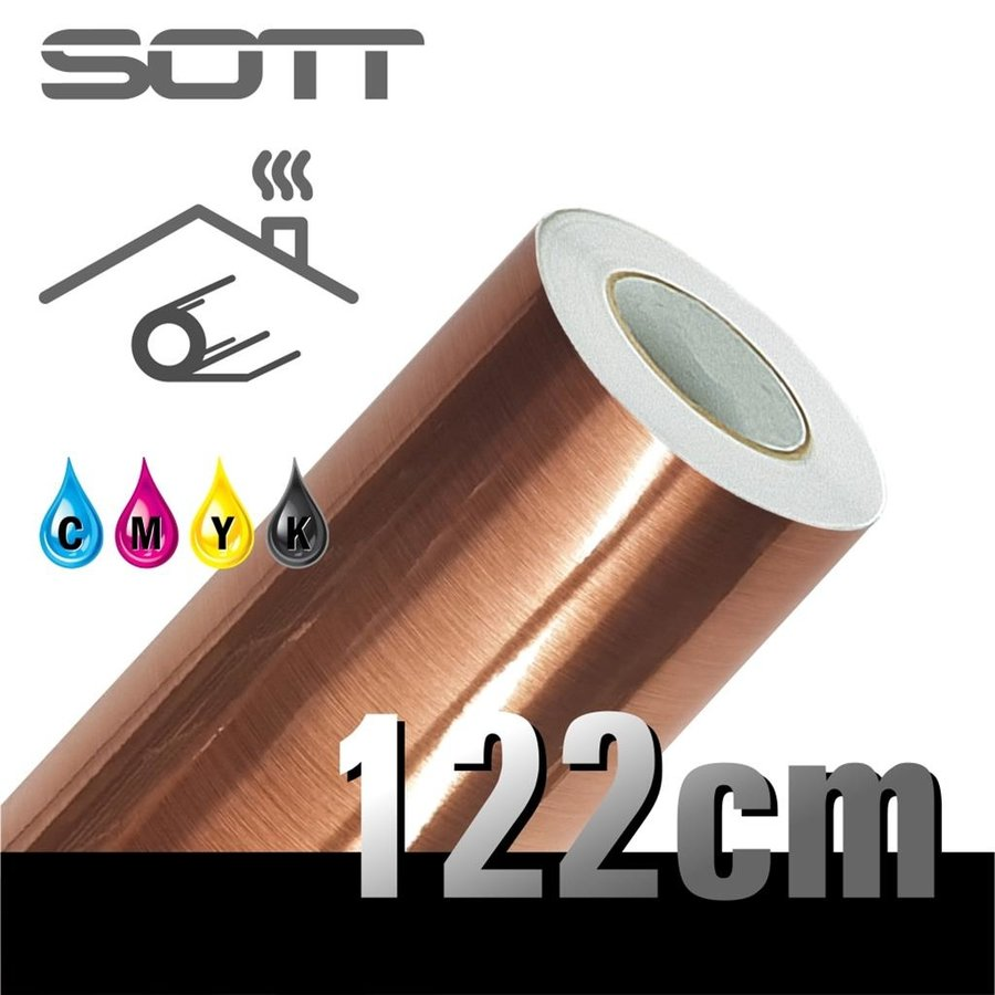 Metaleffect Indoor Brushed Satin Copper -122cm DP-Brushedcopper-122-1