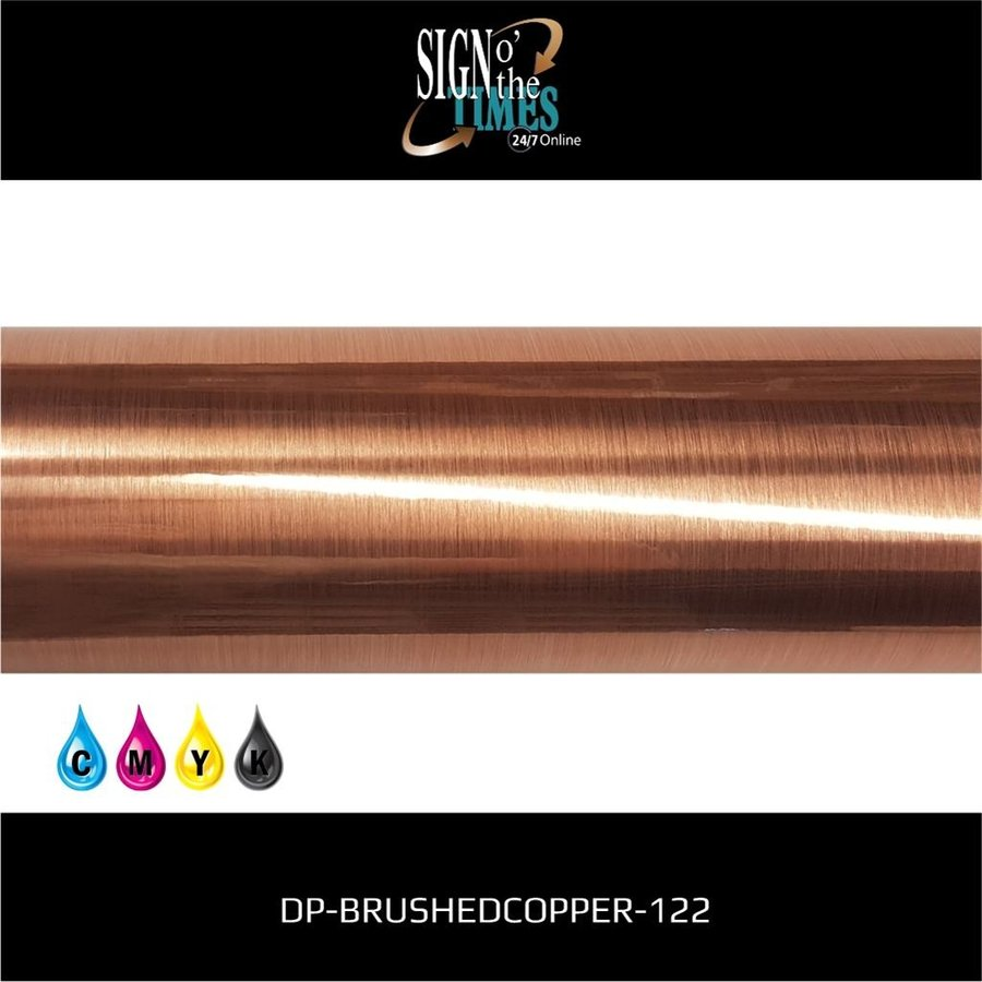 Metaleffect Indoor Brushed Satin Copper -122cm DP-Brushedcopper-122-2