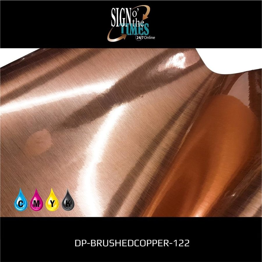 Metaleffect Indoor Brushed Satin Copper -122cm DP-Brushedcopper-122-4