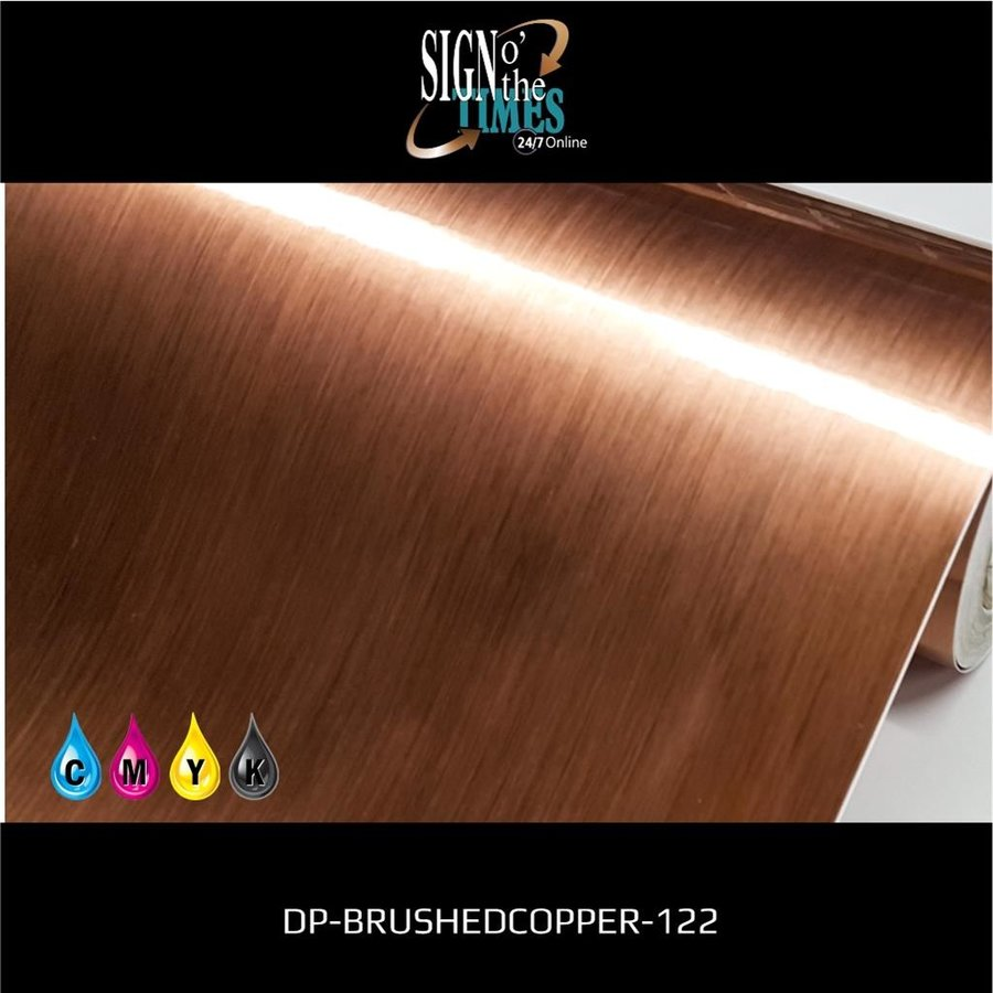 Metaleffect Indoor Brushed Satin Copper -122cm DP-Brushedcopper-122-5