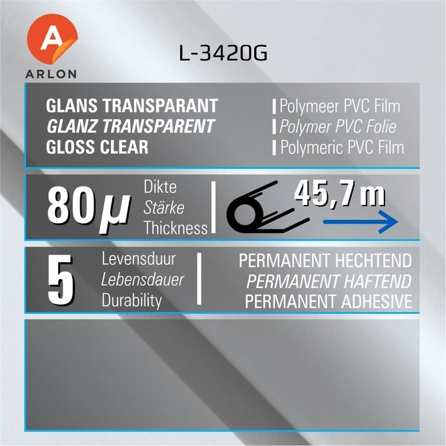 L-3420 Glanz Laminat Polymer -152 cm-2